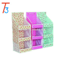 3 tier non woven hanging storage organizer /bathroom/door/wall hanging bag