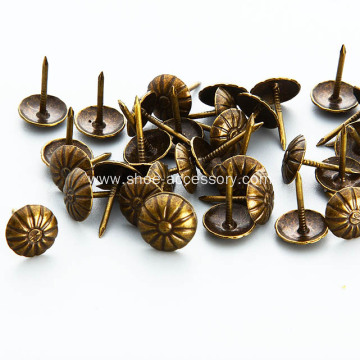 Brass Daisy Upholstery Nail 9.5mm Head