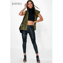Zip PU Bike Femmes Leggings