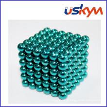 Azul verde revestido bolas magnéticas brinquedo buckyball (t-021)