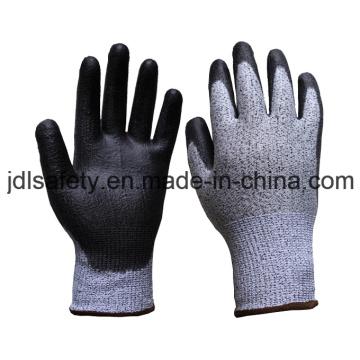 Стеклянные волокна работы перчатку с PU покрытием (PD8042)