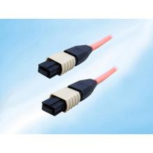 Одномодовый / множественный волоконно-оптический кабель-патч-корд, MTP MPO-стиль, 12-жильный, без штырей, 9/125, 1 метр