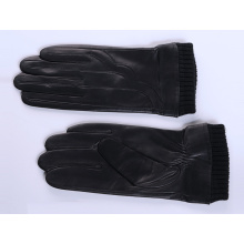 Men's Fashion Leather Gloves,Classical Style Leather Gloves Men with Rib Cuff