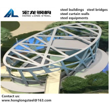 Arrival Club House Curtain Wall Steel Structure