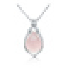 Women ' S 925 Sterling Silver Teardrop Shaped Pendant Necklace with Chain