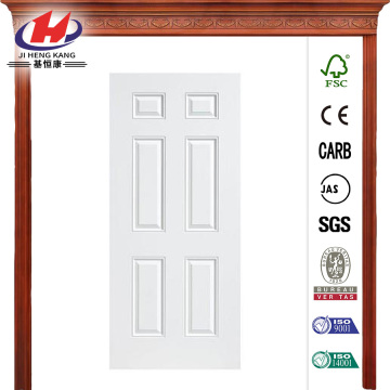 Utility 6-Panel Primed Steel Prehung Front Door