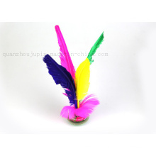OEM Logo Wholesale Colorful Recreational Sport Feather Shuttlecock
