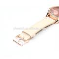 Japão movimento quartzo cor de ouro senhora relógio de aço inoxidável de volta para a promoção