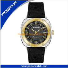 Simple Style Quartz Watch for Men with Genuine Leather Band