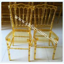 Kd Gold Прозрачный пластиковый стул Napoleon для аренды и банкетов (YC-P23-1)