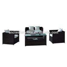 Sistema de sofá de jardín de esquina de muebles al por mayor