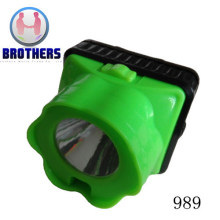 Plastic Battery LED Headlamp with Laser (989)