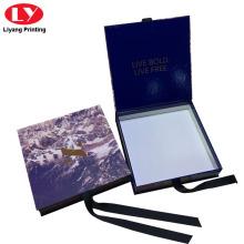Embalagem de lenço de seda de luxo de caixa de presente azul
