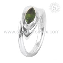 Loving gift peridot gemstone silver ring jewelry 925 sterling silver jewelry wholesale jewellery