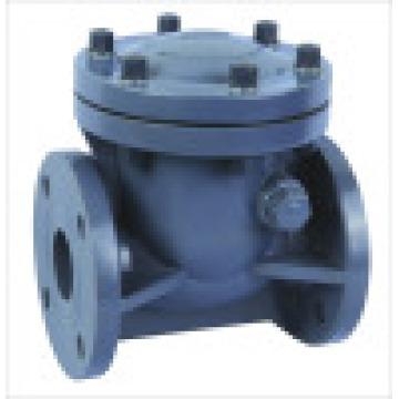 Válvula de retenção FRPP, Válvula de retenção de PVC Swing, válvula de retenção de plástico
