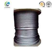 Cuerda de alambre de pescado de acero al carbono 7 * 19