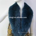 top quality dyed color real fox fur collar