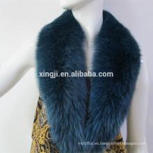 collar de piel de zorro real de color teñido de alta calidad