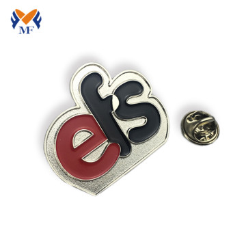 Emaille aangepaste logo brief pin badge