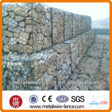 2016 hot dip galvanized/pvc high strength weaved gabion baskets/gabion box