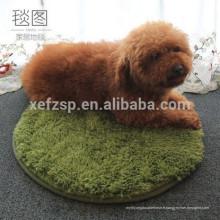 round shaggy microfibre cheveux longs tapis de chien en gros