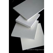 panneau de mousse de PVC de haute qualité en Chine avec la taille chaude de haute densité 1.22 * 2.44m couleur blanche