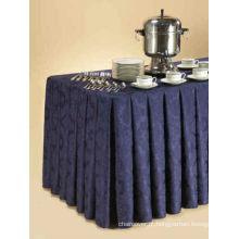 Toalha de mesa de buffet de casamento, toalha de mesa do poliéster