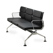 Eames leather bench (VA87S-AD)