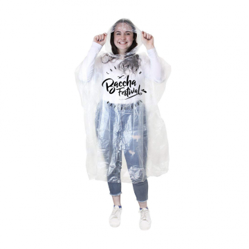 2019 moda DIsposable PE chuva Ponchos