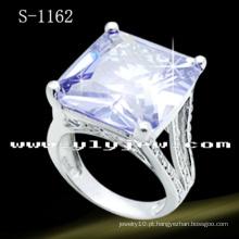 Moda jóias 925 anel de diamante de prata esterlina com zircônia pedra