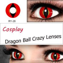 Cosplay Kontaktlinsen Cat frische farbige Kontakte Objektiv farbige Farbe Halloween lila Alt grüne Gragon Sharingan mit PP-Verpackungen