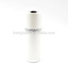 Botella cosmética de acrílico blanca de lujo 30ml con cuentagotas