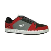 zapatos de skate superior de pu y gamuza