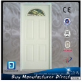 Fangda Arched Glass Inserted Exterior Steel Door