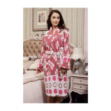 Ladies Flannel Soft Touch Fleece Bathrobe