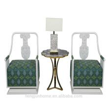 CANOSA chinês decoração de água doce shell sala sofá mobiliário de madeira