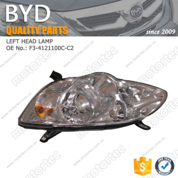 OE BYD f3 spare Parts left headlamp F3-4121100C-C2
