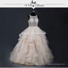 RSW764 шампанское сексуальная видеть сквозь корсет Bakcless кружева свадебные платья последние конструкции свадебное платье