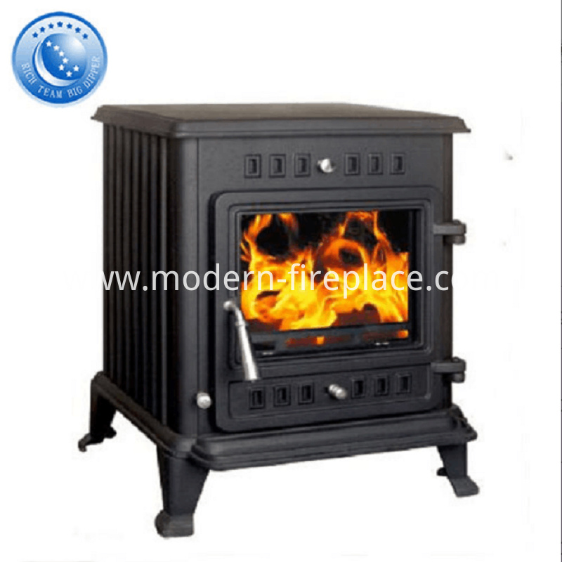Contemporary Cast Iron Wood Burning Stove