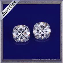 Forever One Coussin Brillant Cut Blanc Synthétique Moissanite Diamant pour les Bijoux