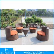 Ensemble de sofa empilable bon marché en gros de compagnie de la Chine, empilant le sofa Rattan