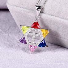 custom fancy new design star hollowed-out color jewelry pendant