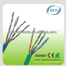 Bonne performance câble 8 cœurs 0.5mm utp cat5e lan cable