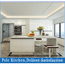 MDF White Lacquer Painting Kitchen Cabinet