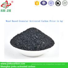Holzbasierter granulierter Aktivkohlepreis in kg