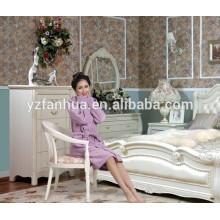 Color sólido Coral suave hotel de lana Albornoz mujeres tallas grandes otoño e invierno gruesa bata súper suave franela ropa de dormir