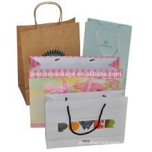 fashion hot sale handle kraft Paper shopping bags