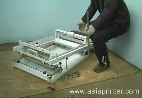 Manual operateing cylinder screen printer for toys