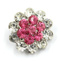 Decorated Metal Alloy Press Snap Button with Crystal Diamond