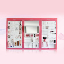 Aangepaste make-up stands en displays